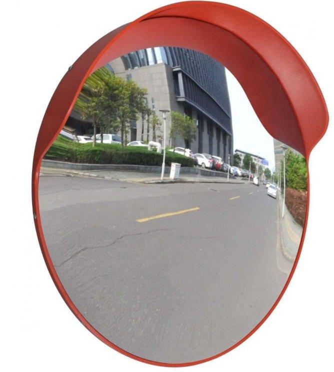 Зеркало дорожное сферическое 600 мм, с козырьком - купить в Москве и Санкт-Петербурге